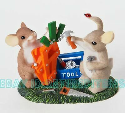 New WITH BOX DAMAGE Build Your Dream CHARMING TAILS Bunny Rabbit Mouse Figurine