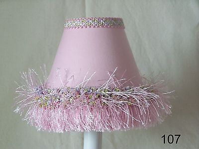 Pretty in Pink Lamp Shade, Chandelier Shades or Night Light for Baby Nursery
