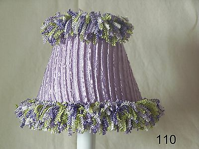 Lady Lavender Lamp Shade, Chandelier Shades or Night Light for Girl Baby Nursery