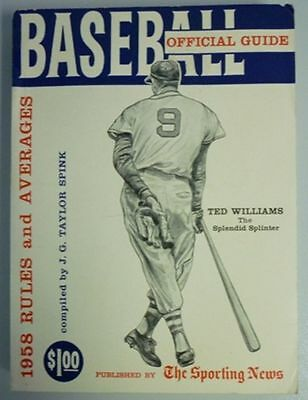 1958 Official Baseball Guide By The Sporting News