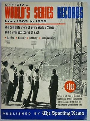 1960 Official World Series Records By The Sporting News