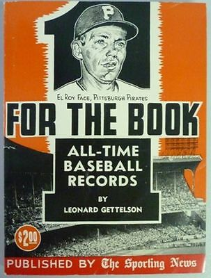 1960 One For The Book Published By The Sporting News