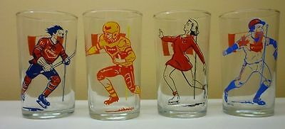 1960's Lot of 4 York Peanut Butter Sports Souvenir Glasses
