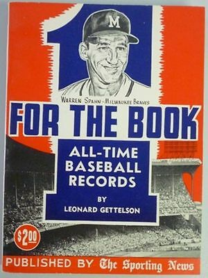 1962 One For The Book Published By The Sporting News