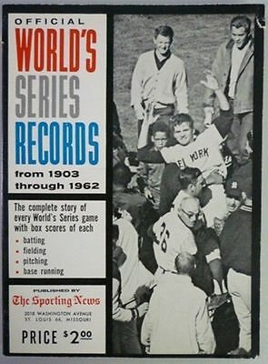 1963 Official World Series Records By The Sporting News