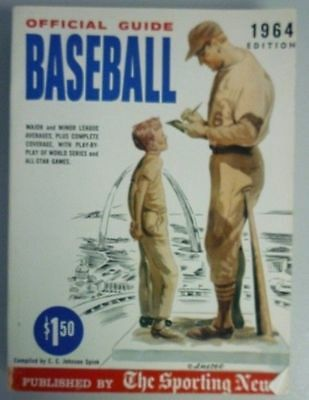 1964 Official Baseball Guide By The Sporting News