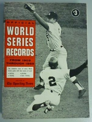 1965 Official World Series Records By The Sporting News