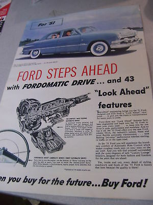 Rare 1951 ''Ford Steps Ahead'' Incredible Brochure