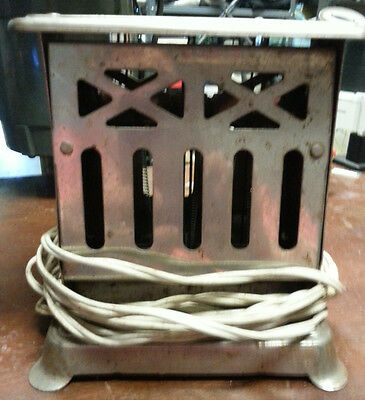 Art Deco 2 Sided Toaster Vintage Works, Lovely Design, Electric Chord Functional