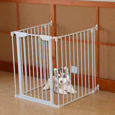 PawHut 3 Panel Folding Pet Kids Safety Barrier Fence Side Panels Fireguard NEW