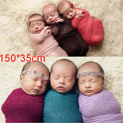 Newborn Baby Stretchy Wrap Cloth Backdrop Costume Photo Photography Prop Outfits