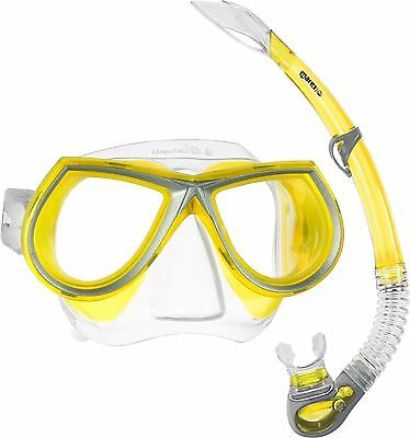 Liquid Silicone Mask and Silicone Snorkel Set Package Combo - Yellow - RRP £50