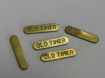 "NEW-KNIFE-PARTS-KITS-ACCESSORIES : SCHRADE ""OLD TIMER "" Brass Shields S449"