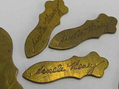 "NEW-KNIFE-PARTS-KITS-ACCESSORIES:SCHRADE ""UNCLE HENRY "" Brass Shields S444"