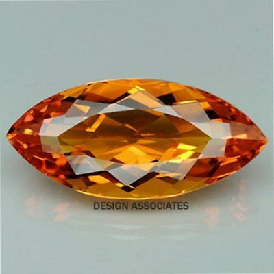 NATURAL MADEIRA CITRINE 27x14  MM MARQUISE CUT