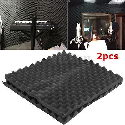 2PCS  Acoustic Soundproofing Studio Wall Foam Protection Insulation 50×50×3.5CM