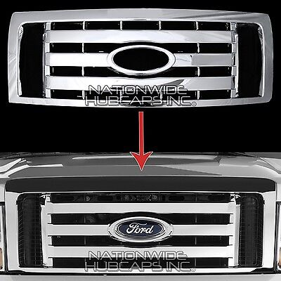 2009-2012 Ford F150 CHROME Snap On Grille Overlay Front Grill Cover Trim Insert