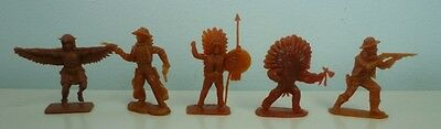 1959 Lot of 5 Nabisco Shredded Wheat Cereal Cowboys & Indians Premium Figurines