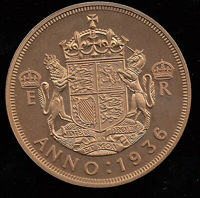 Fantasy Crown size Coin portrait of Edward VIII & Shield 1936 Great Britain.