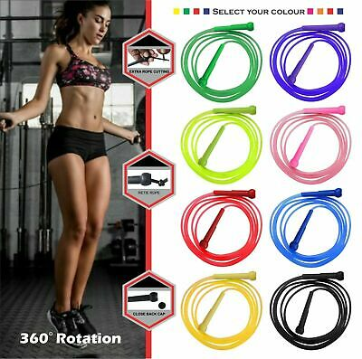 Fitness Adjustable Speed Skipping Jumping Rope CrossFit Boxing Gym Steel Cable