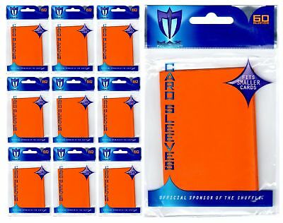 600 MAX PRO SMALL PREMIUM ORANGE DECK PROTECTORS SLEEVES Yugioh Lot - New!