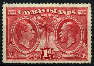 Cayman Islands 1932 SG#86, 1d Assembly Of Justices & Vestry KGV MH #D31730