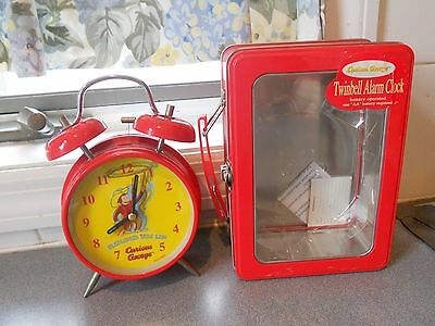 New In Box Htf Curious George Round Em Up Twinbell Alarm Clock