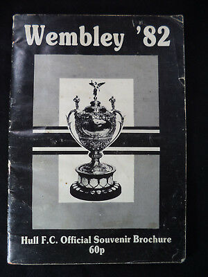 HULL FC 1982 Wembley Souvenir Brochure Challenge Cup Airlie Birds Rugby Widnes
