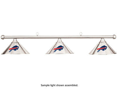 NFL Buffalo Bills Chrome Shade & Chrome Bar Billiard Pool Table Light