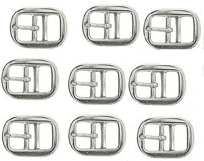 """LOT of 5 - 1"""" Rounded Double Bar Buckle Nickel Plated Thin Tongue Tack 40330"""