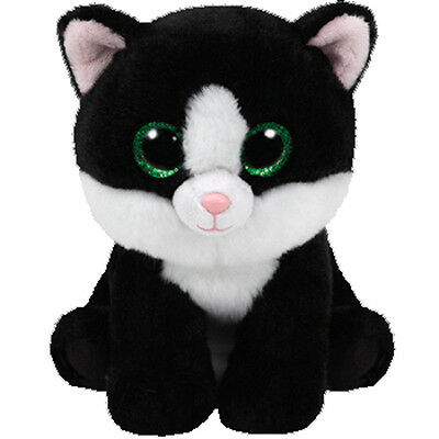 TY Classic Plush - AVA the Black & White Cat (9.5 inch) - MWMTs Stuffed Animal