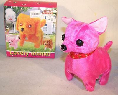 CHIHUAHUA WALKING BARKING TOY MOVING DOG play pet battery operated NEW electric
