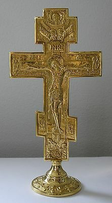 Altar Cross Crucifix Jesus Standing Table liver Croix orthodox