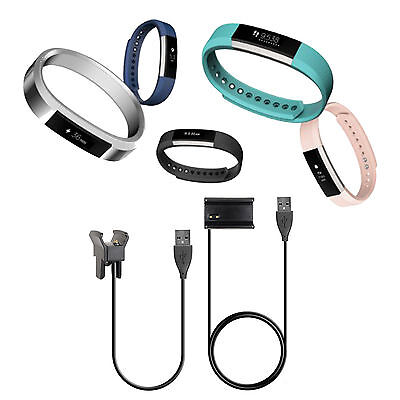 USB Power Charger Charging Cable for Fitbit Alta Wristband Activity Tracker UK