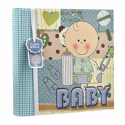 Arpan Baby Boy Blue Memo Slip In Photo Album 200 6x4'' Photos Ideal Gift AL-9772