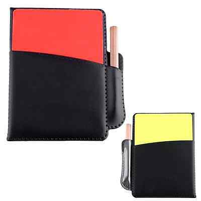 Football Soccer Referee Set PU Booklet Notebook With Red Yellow Judge Cards