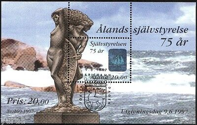 Aland - 1997 - Self Government, s/s cancel.