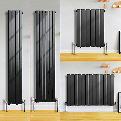 Flat Panel Column Designer Modern Bathroom Radiators Central Heating Anthracite