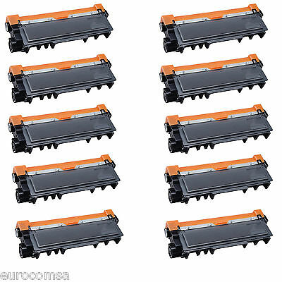 10 TONER COMPATIBILI REMAN BROTHER TN2320 BK NERO PER Brother MFC-L2700DN