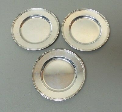 """Set/3 International """"lord Saybrook"""" Sterling Silver 6"""" Bread & Butter Plates"""