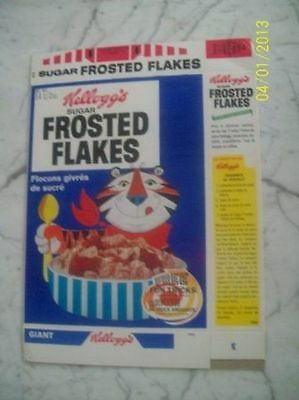 1967 Kellogg's Frosted Flakes Free Tricks Empty Cereal Box