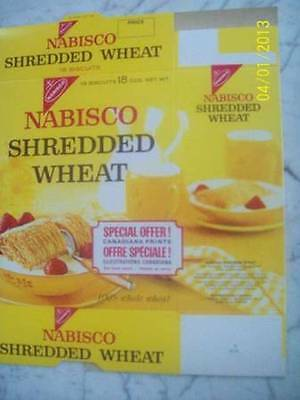 1960's Nabisco Shredded Wheat Wolfe And Montcalm Box
