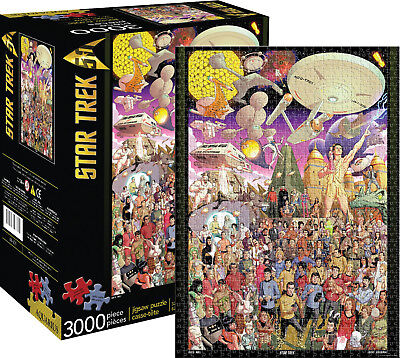 Star Trek 50th Anniversary Classic  Images Collage 3000 Piece Jigsaw Puzzle NEW