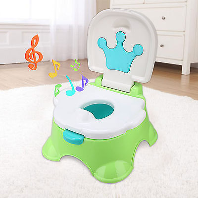 Kids Child Training Toilet 3 in 1 Baby Toddler Music Potty Trainer Chair Seat