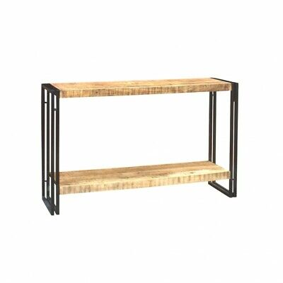 Jupiter Reclaimed Wood/Metal Furniture Industrial Hall Console Table with Shelf