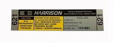 78-88 G-Body GM Licensed Reproduction Harrison Air Conditioner Compressor Decal