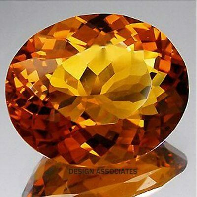 Natural Madeira Citrine 28X20 Mm Large Oval Cut Beautiful Color