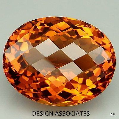 Natural Madeira Citrine 14X10 Checkerboard Top Cut Oval