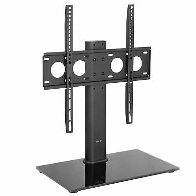 "Universal Economic Flat Screen TV Table Top Stand w/ Glass Base for 32"" to 47"""