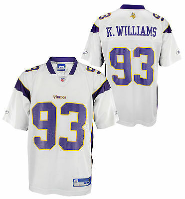 NFL Men's Minnesota Vikings Kevin Williams #93 Replica Jersey, White